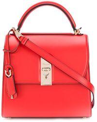 Ferragamo Medium Leather Top Handle Bag - Coral - Pink