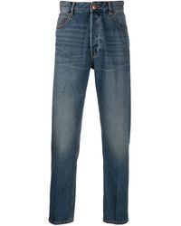 Emporio Armani Jeans dritti con effetto schiarito - Blu
