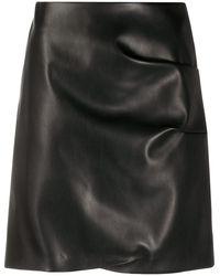 Patou Faux Fur Skirt - Black