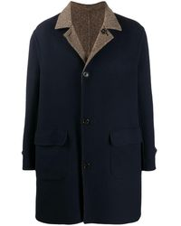 Brunello Cucinelli Reversible Single-breasted Coat - Blue