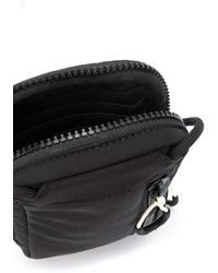 KENZO Logo Print Strap Wallet - Black