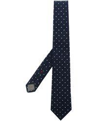 Brunello Cucinelli Polka-dot Pointed Tie - Blue