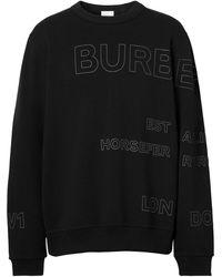 Burberry Felpa con stampa - Nero