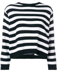 Valentino - Striped Bow Sweater - Lyst