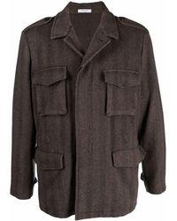Boglioli Fitted Shirt Jacket - Brown