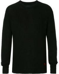 RTA Cashmere Slogan Embroidered Sweater - Black