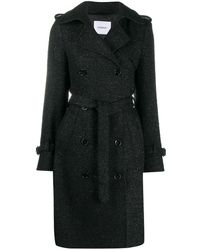 Dondup Metallic-embellished Double-breasted Coat - Black