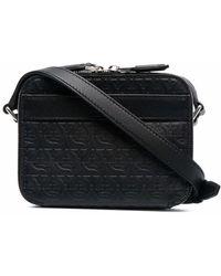 Ferragamo Gancini Leather Crossbody Bag - Black