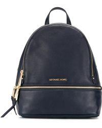 MICHAEL Michael Kors - Rhea Zip Leather Backpack - Lyst