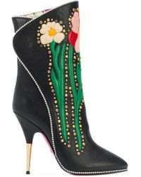 Gucci Leather Boots - Black