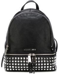 MICHAEL Michael Kors - Rhea Leather Studded Backpack - Lyst