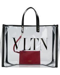 Valentino Garavani Vltn Large Tote Bag - Black