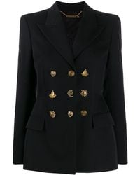 Givenchy Structured Mixed Button Wool Jacket - Black
