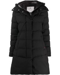 Woolrich Padded Mid-length Coat - Black