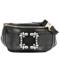 Roger Vivier Viv Leather Belt Bag - Black