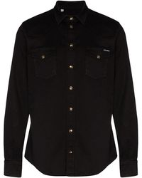 Dolce & Gabbana - Shirt With Gold Buttons - Lyst