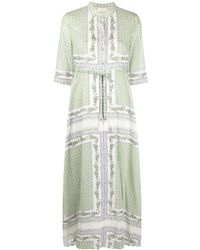 Tory Burch - Voile Long Dress - Lyst