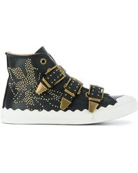 Chloé - Kyle Leather Trainers - Lyst
