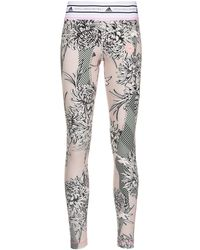 adidas By Stella McCartney Future Playground Floral-print leggings - Pink