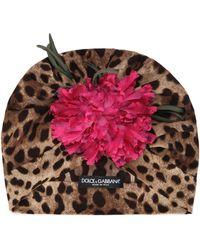 Dolce & Gabbana Cappello leopardato - Marrone