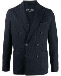 Circolo 1901 Double-breasted Blazer - Blue