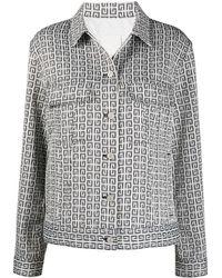 Givenchy 4g Jacquard Denim Jacket - White