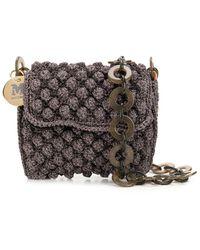 M Missoni Boucle Crossbody Bag With Chain - Purple