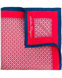 Ferragamo Gancini Pocket Square - Red