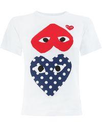 COMME DES GARÇONS PLAY - Hearts Print T-shirt - Lyst
