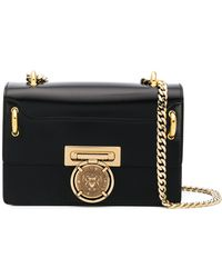 Balmain - Leather Clutch With Chain - Lyst
