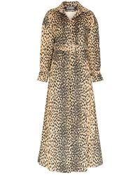 Jacquemus Thika Leopard Print Belted Cotton Blend Coat - Multicolor