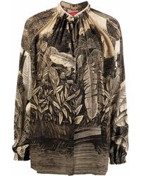 F.R.S For Restless Sleepers Silk Printed Shirt - Multicolour
