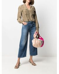 Dondup Jeans a gamba ampia crop - Blu