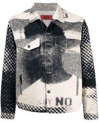 424 Graphic-print Denim Jacket - Multicolor