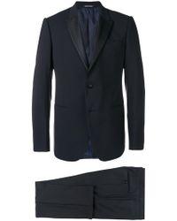 Emporio Armani Wool Tuxedo - Blue