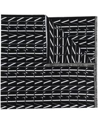 Valentino Garavani Valentino Garavani Vltn Logo-intarsia Knit Scarf - Black