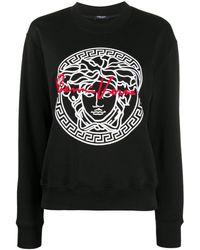 Versace Medusa Print Gv Sweatshirt - Black