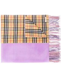 Burberry Cashmere Double-faced Scarf - Purple