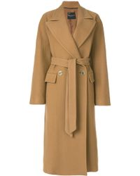 Erika Cavallini Semi Couture - Tami Blend Wool Coat - Lyst