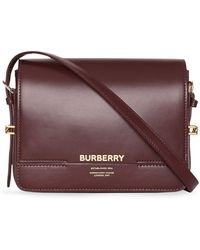aec8196fea Lyst - Burberry Canter Small Horseferry Check & Leather Tote in Brown