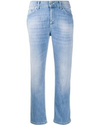 Dondup Mid Rise Cropped Jeans - Blue