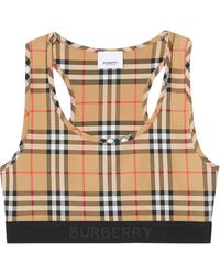 Burberry Vintage Check Sports Bra - Multicolour