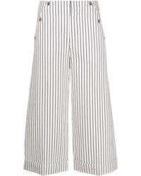 Dondup Trousers White - Multicolour