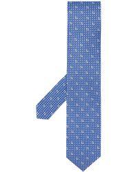 Ferragamo Silk Tie - Blue