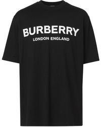 Burberry T-shirt con stampa - Nero