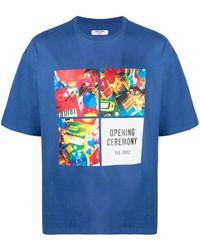 Opening Ceremony T-shirt con stampa - Blu