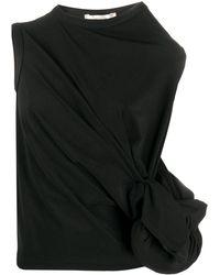 Comme des Garçons Knotted Gathered Tank Top - Black