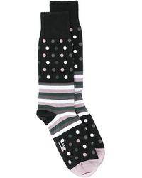 Homme 1 Paire Burlington Zig Zag Stripe Cotton Socks