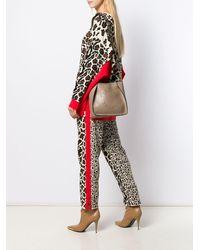 Stella McCartney Borsa a spalla con logo traforato - Multicolore