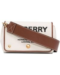Burberry Small Hackberry Horseferry Print Crossbody Bag - Brown